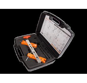 Набор инструментов с шаблоном для сверления для накладных замков и ответных планок