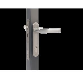 Врезной замок с выносом отверстия для ключа 30 мм для профилей толщиной от 50 мм