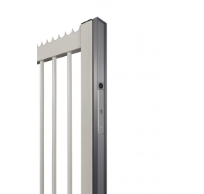 Алюминиевый профиль для эстетичной отделки откатных ворот – используется с магнитным замком MAGUNIT