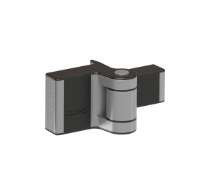 Компактная петля с регулировкой в двух направлениях и углом открывания до 180°, устанавливается внаклад