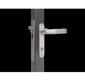 Врезной замок с выносом отверстия для ключа 40 мм для профилей толщиной от 60 мм